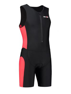 Men's tri-suit black-red