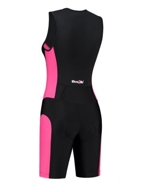 Women's tri-suit black-pink
