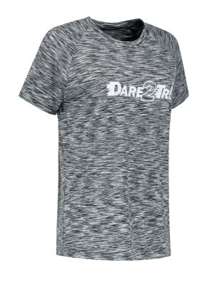 Women's T-shirt black-grey