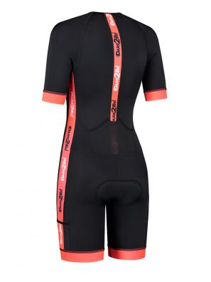 Women's coldmax short sleeves tri-suit black-red