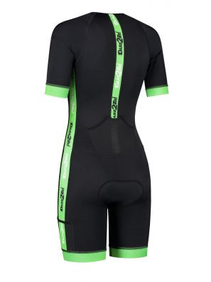 Women's coldmax short sleeves tri-suit black-green