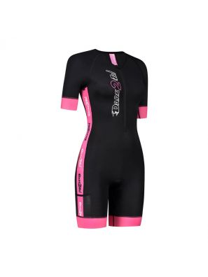 Women's coldmax short sleeves tri-suit black-pink