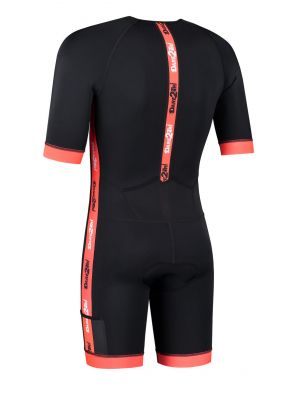 Men's coldmax short sleeved tri-suit black-red