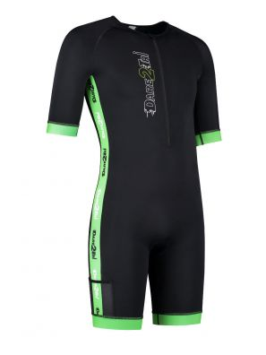 Men's coldmax short sleeved tri-suit black-green