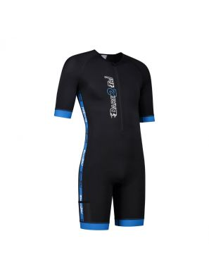 Men's coldmax short sleeved tri-suit black-blue