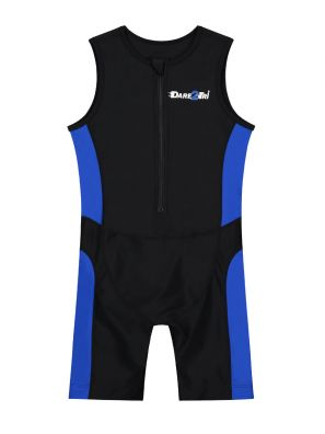 Kids tri-suit black-blue