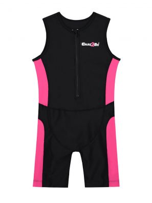 Kids tri-suit black-pink
