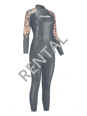 Women's rental wetsuit