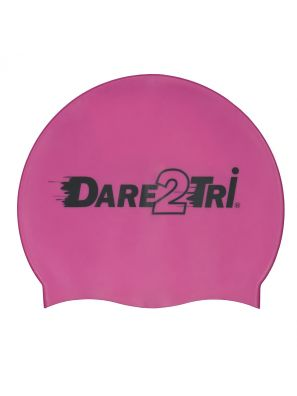 Silicone swimcap purple